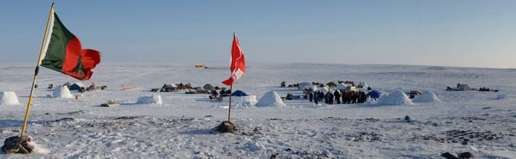 Canadian forces camped out during Operation Nunaluvit 2015