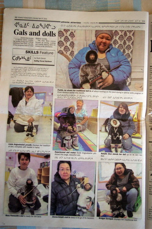 Nunavut News/North Monday April 27 photo article about traditional Inuit doll-making