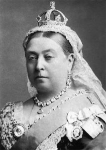 Queen Victoria wearing her small diamond crown.  Photograph by Alexander Bassano, 1882