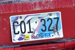 Nunavut number plate