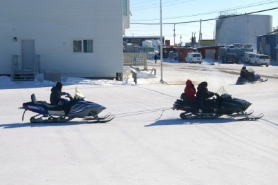 Even snowmobiles need to be towed sometimes when they break down !