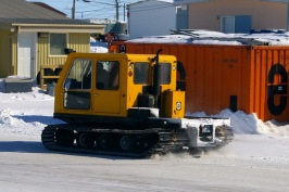 A snow cat used for specialised field work in any conditions