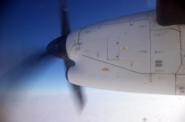 The Dash 8 -100 prop hard at work flying us between Yellowknife and Cambridge Bay